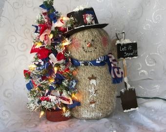 New York Giants Snowman