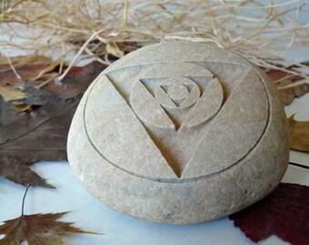 Minimalism Geometric Design Engraved Paperweight Stone