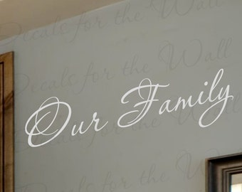 Our Family Love Home Adhesive Vinyl Wall Decal Lettering Decoration Quote Decor Saying Sticker Art F30