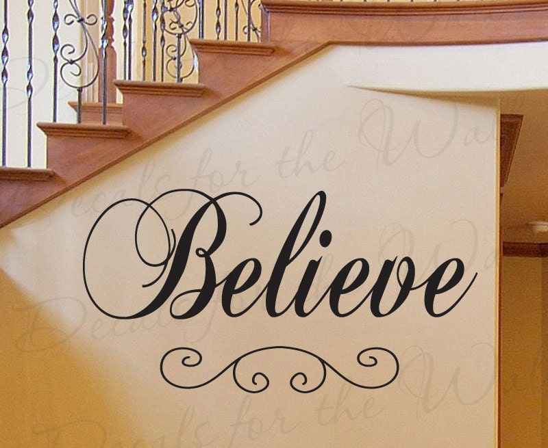 Believe Inspirational Motivational God Religious Large Wall