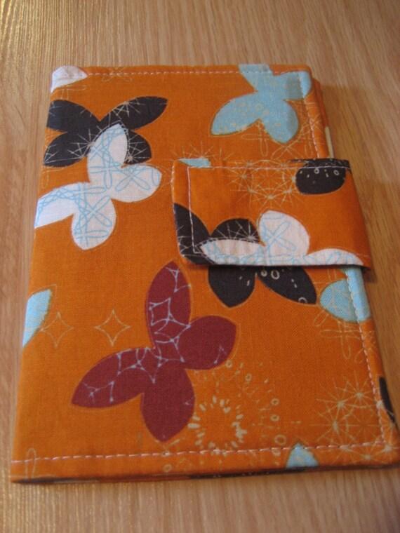 Orange Dancing Butterflies Passport Wallet - Shipping Included