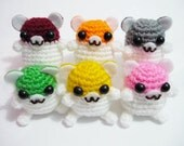 Wholesale Mixed Lot 20pcs of Crocheted Happy Hamster & Happy Rubbit