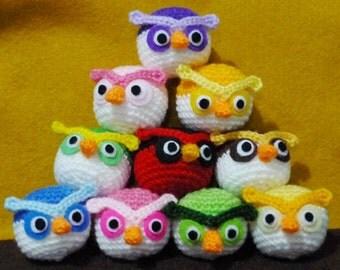 Wholesale Mixed Lot 12pcs of Crocheted Ball Owls