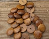 Wood Buttons with Metal Shanks