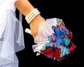 Hochzeitsstrauß der Schmetterling-Traum und boutonniere