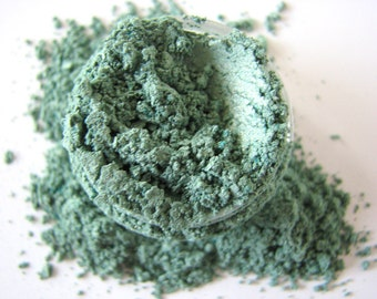 Eucalyptus - Mineral Makeup - Green Mineral Eyeshadow - Natural Mineral Eye Color - Eye Pigment -Home and Living - Bath and Beauty