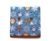 Seaside Holiday Double Toggle Switch Plate, Holiday wall decor