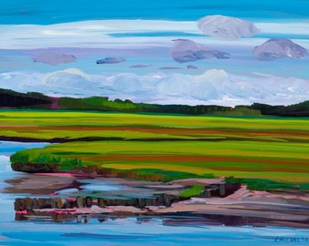 Maine Landscape Plein Air Scarborough Marsh