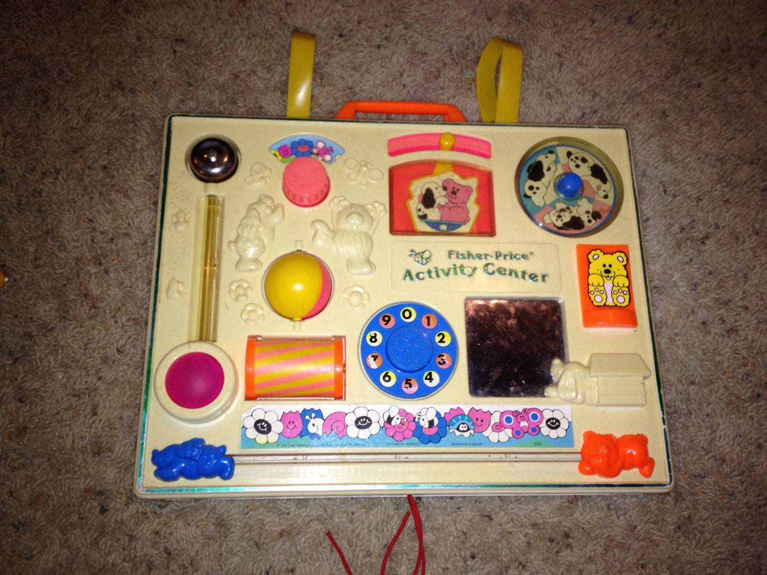vintage fisher price activity center 1984 baby by cupcakegirl08. Black Bedroom Furniture Sets. Home Design Ideas