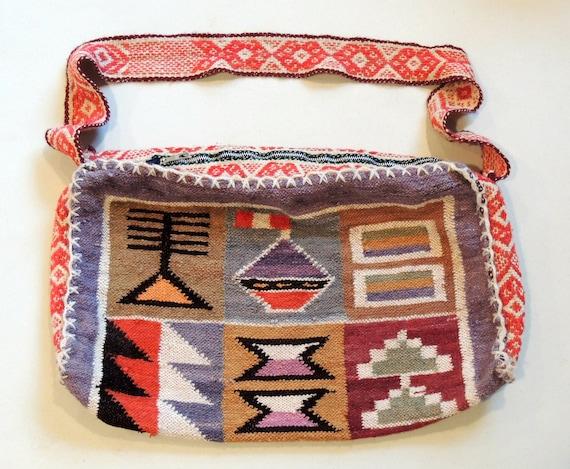 SALE TODAY ONLY Vintage Southwestern Bag Woven Navajo Aztec Style Oversized Purse