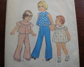 """Size 3 Breast 22"""", toddler, Simplicity pattern number 7365, printed in 1976"""