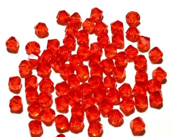 100 - 4mm Hyacinth 5301 Swarovski Crystals