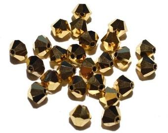 Swarovski Crystal 5328, 4mm Bicone, Crystal Aurum 2X Gold (Special Production), 24 pcs