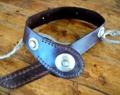 Leather Belts with Silver and Horn Buckles