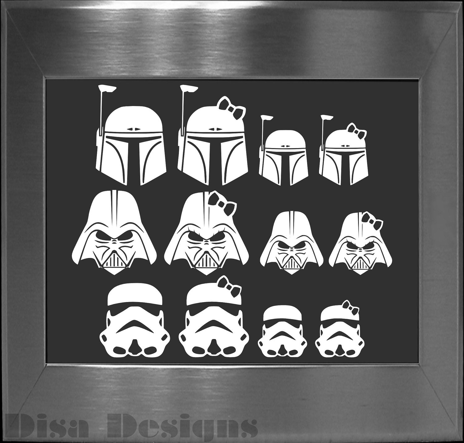 ONE Extra Disa Designs Family Member Vinyl Decal Please READ - Star wars family car decals