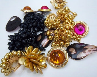 Vintage Assorted Lot of Earrings 1980s
