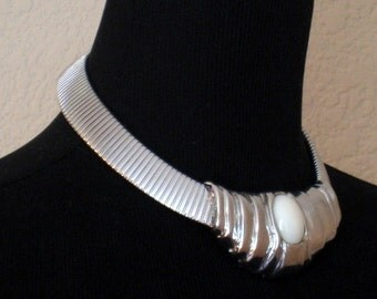 Vintage Choker Necklace 1980'S Glam