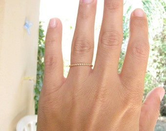 SALE - Gold ring - thin delicate ring - bridal jewelry - thin ring - Stacking ring - gold bangle - slim stacking ring - gold filled ring