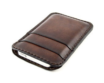 iPhone 5 - Leather case. Customized, hand-dyed, hand-stitched, made in Italy.