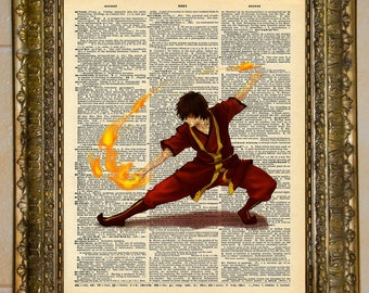 Avatar: The Last Airbender Dictionary Art Zuko