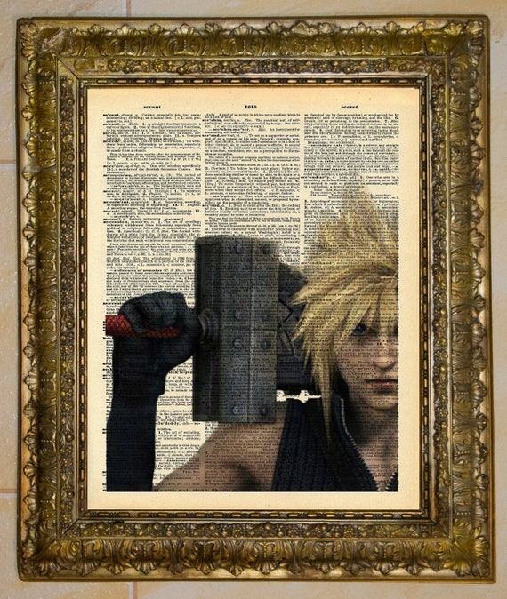 Final Fantasy VII Cloud Strife Dictionary Art