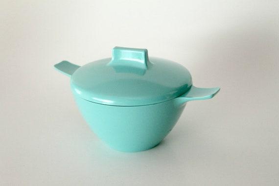 Vintage Turquoise Melmac Sugar bowl