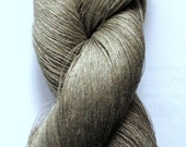Linen Yarn Natural gray hank 100 gr (3.53 oz ), Cobweb / 1 ply, approximately 3000 yds