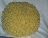 Spot of sunny yellow pillow