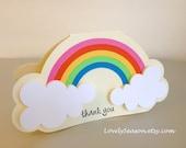 3D Rainbow Cards Thank You card Greeting card Birthday Card