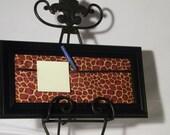message board, fashion, framed, wall art, giraffe,