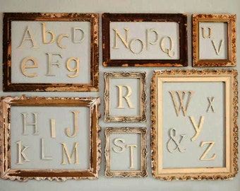 PAINTED Wooden Alphabet Set - Wooden Letter- Alphabet Wall - DIY- ABC Wall- Room decor- Gift- Baby Shower