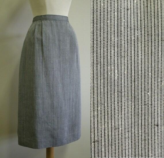 80's Pinstripe Pencil Skirt