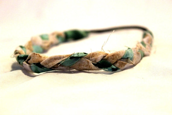 Green Braided Headband - Headbands for women