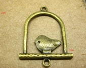 6pcs charms accessories craft alloy jewelry pendant handmade brass  birdcage bird fashion jewelry sx187