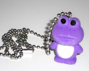 Frog Necklace Rubber Toy Geekery Jewelry