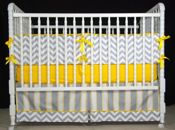 Custom Two Piece Crib Bedding In Premier Prints By LavenderLinens