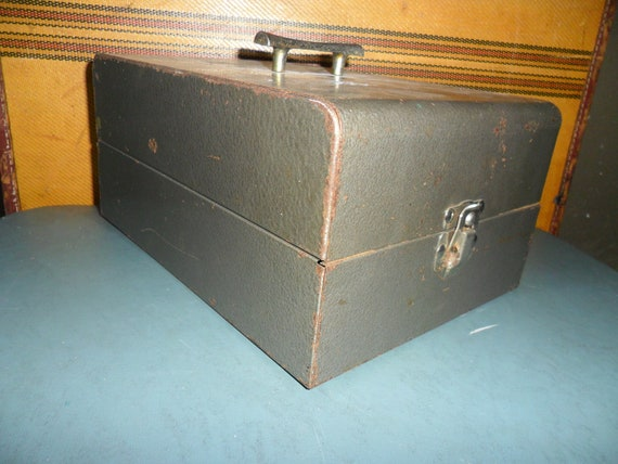 Vintage Metal Cash Box