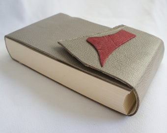 Leather blank book (round-back style)