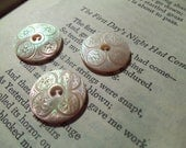 Antique Carved Mother of Pearl Buttons c.1900