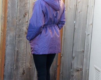 SALE Vintage Iridescent  Jacket with Zip Hoody
