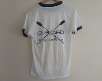80s eighties tshirt large size, pic of back, front is white - boat board