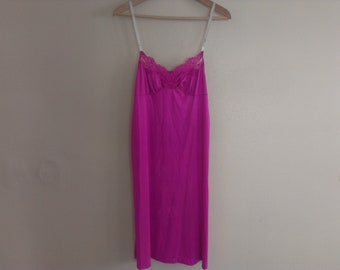 80s eighties medium size slip lingerie stained in front