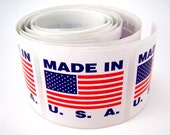 500 Made In USA Labels - stickers