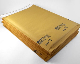 25 - Kraft Bubble Mailer 7.25 x 12 Size 1 Padded Mailer
