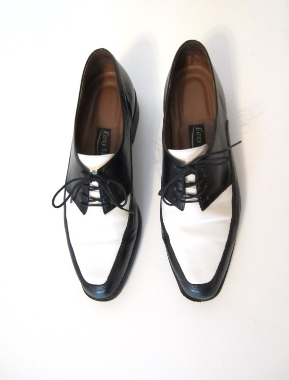 black and white brogues saddle oxfords s size 7