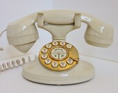 RESERVED FOR MYRNA retro gold and cream phone