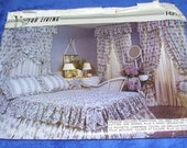 VOGUE PATTERNS for LIVING 2 different Bedroom Styles Top to Bottom with Decorating Guide