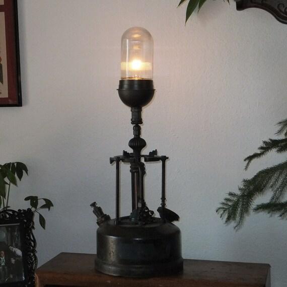 Steampunk lamp Industrial lighting vintage edison bulb Oil lanten machine Age