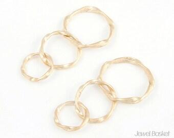 3 Rinked Twisted Ring / 20mm x 40mm / BMG014-C (2pcs)