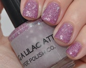 """Lilac Jellie Polish with Silver & Holographic Glitter - """"I'm Having a Lilac Attack"""" by Piper Polish - 15 ml Full Size"""